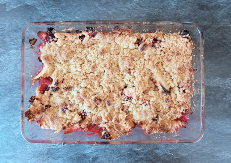 blog blogueuse cuisine Mood of the City Recette crumble pommes framboises